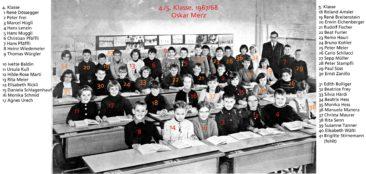 Jg 56+57 4+5.Klasse Lehrer Oskar Merz 1967