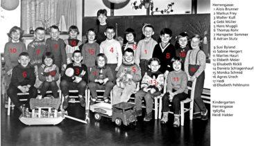 Jg 57 mit Heidi Halder 1963 Kindergarten Herrengasse am Lochackerweg