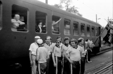 26.Juni 1983 abgeholt vom Eidgenössischem Turnfest,  Foto Kurt Häsler