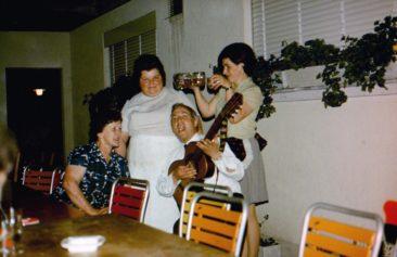 Huber Anni, Brunner Mari, Sepp, Wildi Hanni, Juni 1970