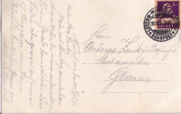 Bahnpost von 10.9.1931