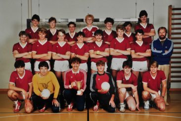 1980 Handballclub mit Hans Studler und Alfred Linder