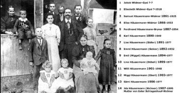 Fam. Häusermann-Widmer 1907 em Choschthus, herzlichen Dank Esther