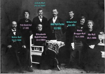 Fam. Kull-Fischer  (Fuhrhalters) um 1916