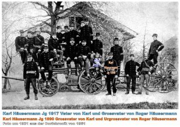 Feuerwehr um 1921