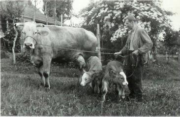 Hans Senn Sen. mit Stern und ihren  Zwilingen