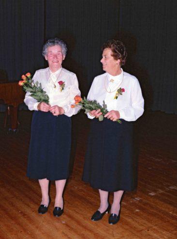 Miggi Leder 60 Jahre- und Erika Wagner-Metler 55 Jahre Aktivmitglied