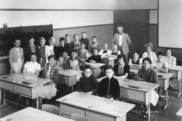 Jg 41 - 43  Oberschule  Lehrer Hans Bertschi   1955