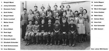 Jg 36 - 38  Sek. Lehrer Willi Basler   1950