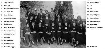 Jg 38 Konf. mit Pfarrer Kurt Marti  1954