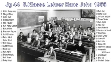 Jg 44  5.Klasse  Lehrer Hans Joho   1955