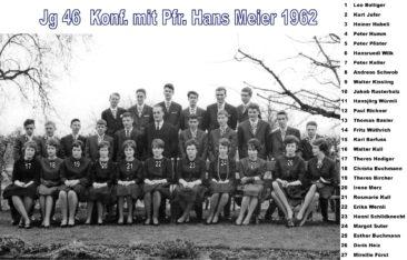 Jg 46 Konf. mit Pfarrer Hans Meier 1962