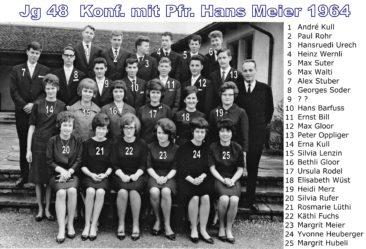 Jg 48 Konf. mit Pfarrer Hans Meier 1964