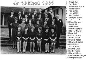 Jg 48 Konf. mit Pfarrer Meier 1964