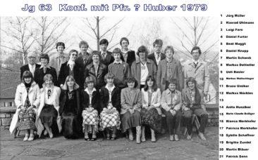 Jg 63 Konf. mit Pfarrer ? Huber 1979