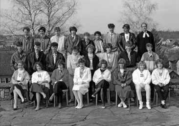 Jg 69 Konf. mit Pfarrer Moor  31. März 1985