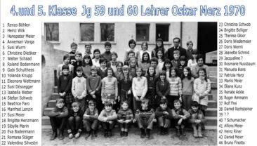 Jg 58+59 4+5.Klasse Lehrer Oskar Merz 1970