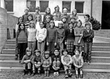 Jg 63 4.Klasse Lehrerin Frl. Irma Landis 1973