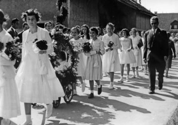 29.6.1958 Sek. mit Lehrer Willi Basler