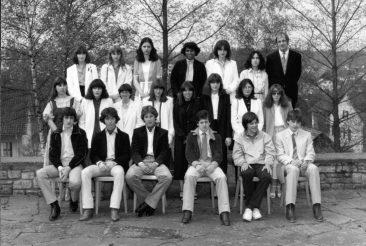 Jg 65 Konf. mit Pfarrer Moor  12. April 1981