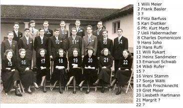 Jg 35 Konf. mit Pfarrer Kurt Marti  1951