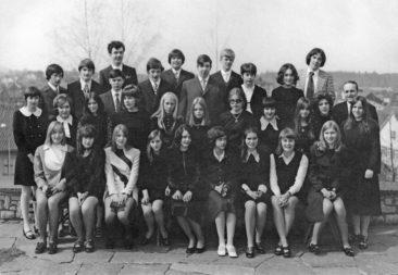 Jg 55 Konf. mit Pfarrer  Meier  4.April 1971