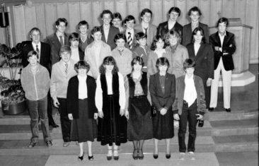 Jg 64 Konf. mit Pfarrer Moor  23.März 1980