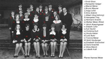 Jg 52 Konf. mit Pfarrer Hans Meier 1968