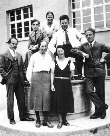 oben Walter Fischer, Margrit Urech, Hans Bertschi, unten Hans Joho, Berta Kull, Margrit Baumann, Willi Basler