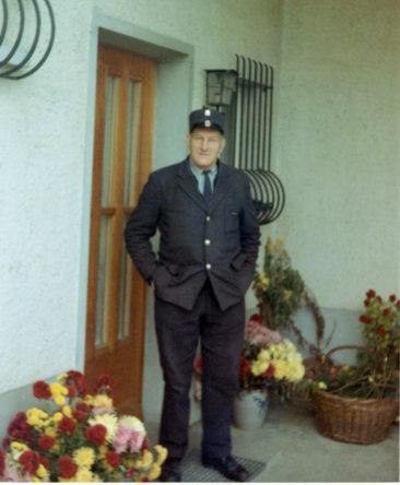 Briefträger Max Härdi um 1970