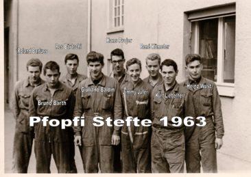SLI Mech und Stromer-Lehrlinge 1963