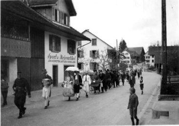 Sport & Reiseartikel, Johannes Kömeter, Satler & Tapezierer um 1931, später Schuhhaus Kömeter