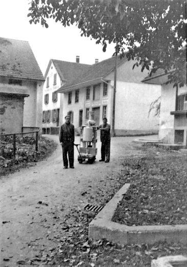 Mitarbeiter der Mühle auf der Mühlestrasse