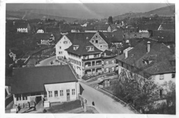 Kurve um 1940 da gabs noch keine Brunnrain-Brücke