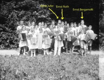 Handörgeli-Club um 1936