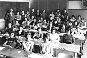 Jg 41 - 43  Sek.  Lehrer Willi Basler   1955